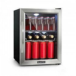 Klarstein Beersafe M, chladnička, A++, 35 l, LED, 2 kovové rošty, sklené dvierka, čierna
