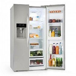 Klarstein Grand Host XXL, chladnička s mrazničkou, 550 litrov, dávkovač ľadu a vody, A+, strieborná farba