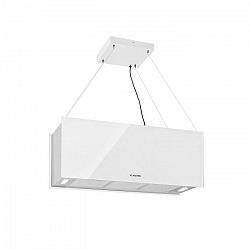 Klarstein Kronleuchter XL, ostrovčekový odsávač pár, 90 cm, cirkulácia, 590m³/h, LED, dotykový displej, biely