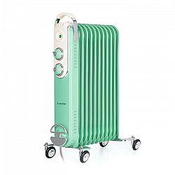 Klarstein Thermaxx Retroheat, olejový radiátor, 2500 W, kolieska, zelený