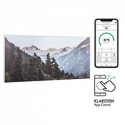 Klarstein Wonderwall Air Art Smart, infračervený ohrievač, 120 x 60 cm, 700 W, aplikácia, hora