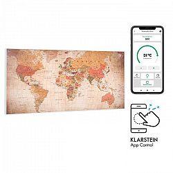Klarstein Wonderwall Air Art Smart, infračervený ohrievač, 120 x 60 cm, 700 W, aplikácia, svet