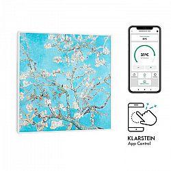 Klarstein Wonderwall Air Art Smart, infračervený ohrievač, 60 x 60 cm, 350 W, mandľový kvet