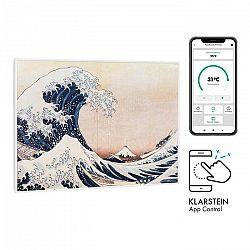 Klarstein Wonderwall Air Art Smart, infračervený ohrievač, 80 x 60 cm, 500 W, modré vlny