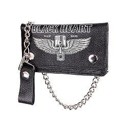 Peňaženka Black Heart Rahakot Black